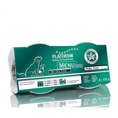 PLATINUM menú mini pure fish